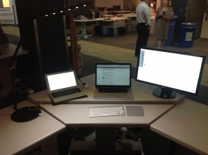 My desk at The Globe