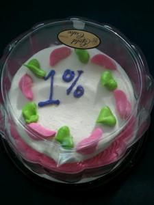 The 1% Cake